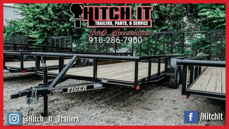 Black 83 x 16 Pipetop Utility Trailer w/ Ramp Gate