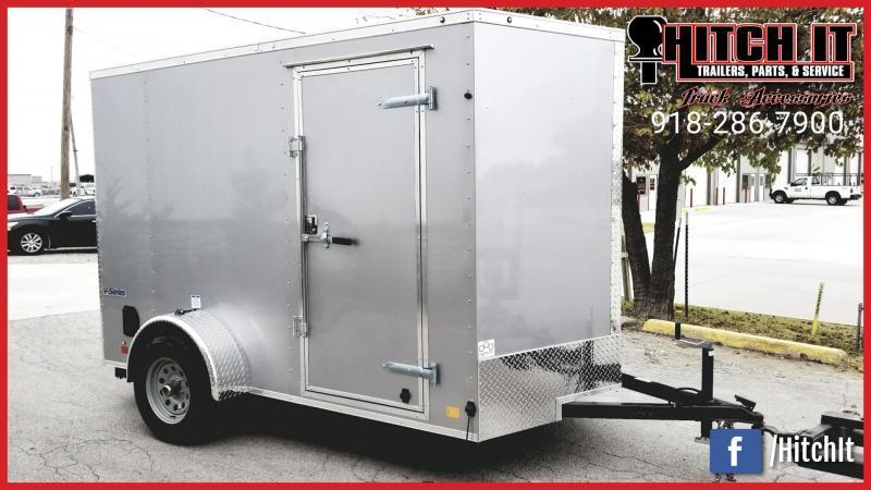 2019 Continental Cargo 6 X 12 + V-nose  Enclosed Cargo Trailer