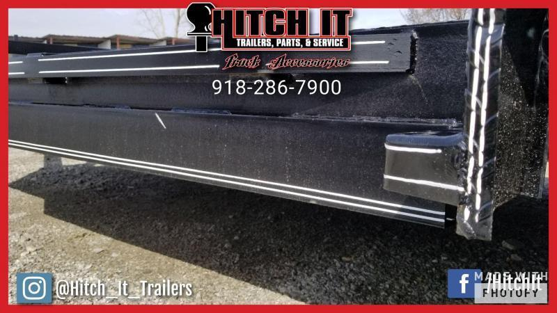 83 x 18 Steel Floor Flatbed Car Hauler Trailer