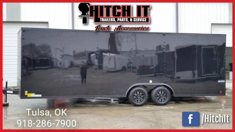 Continental Cargo 8.5 X 24 Enclosed Cargo Trailer MIDNIGHT BLACK OUT EDITION _CUSTOM WHEELS