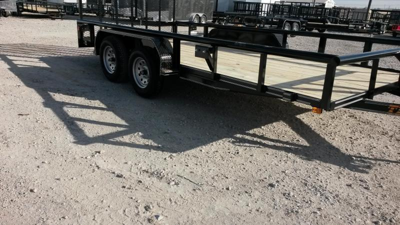 77x16 Pipetop Utility Trailer w/ Ramp Gate Bulldog and Brakes