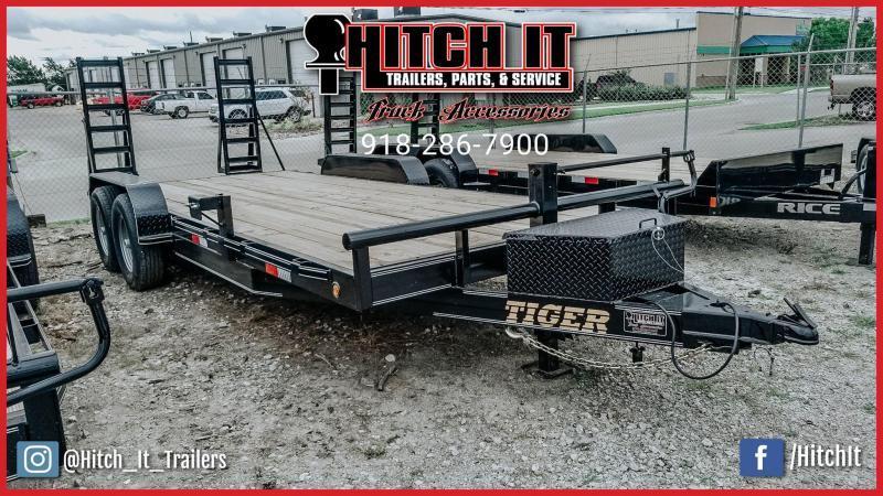 83 x 20 Heavy Duty Flatbed Trailer Tandem 7000#