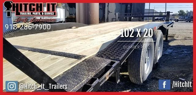 DRIVE OVER FENDERS Tiger 102 X 20 Heavy Equipment Trailer