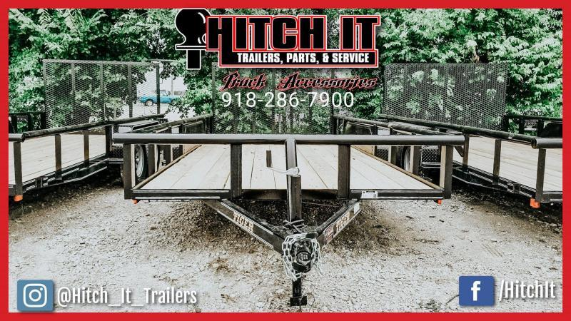 83 x 16 Pipetop Utility Trailer w/ Ramp Gate Tandem 3500#