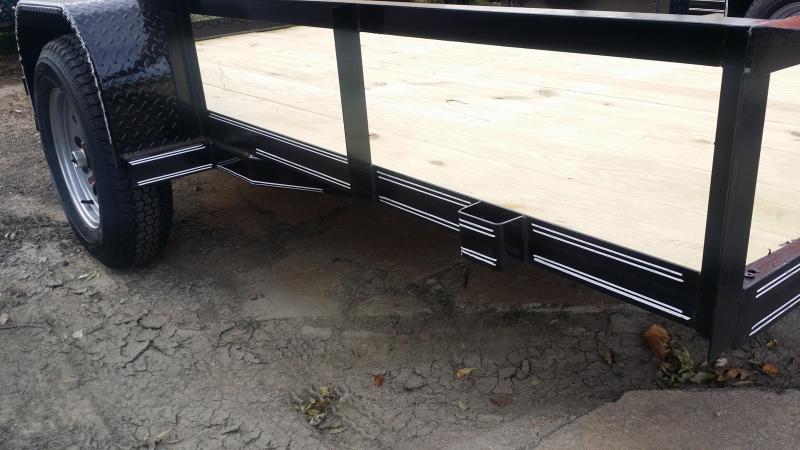 New 77 X 10 Utility Trailer w/ Rear Ramp Gate BLACK