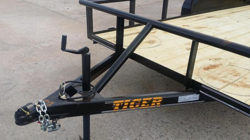 TIGER 77x16 Pipetop Utility Trailer w/ Rampgate