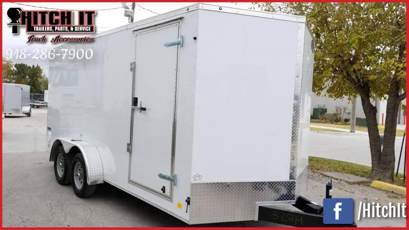 2020 Continental Cargo 7 x 14 + v-nose  Enclosed Cargo Trailer