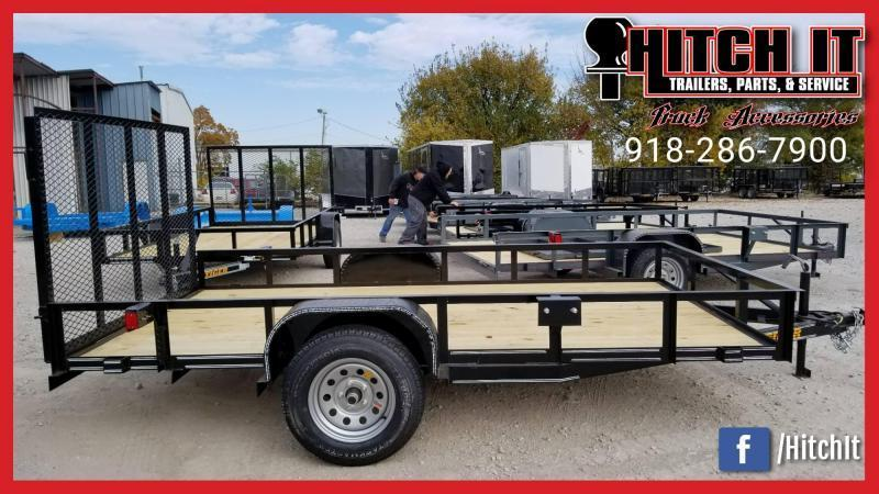 Tiger 77 X 12 Single Axle Utility Trailer w/ Ramp Gate 3500 lb axles