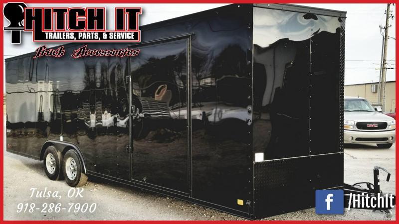 Continental Cargo 8.5X24 Enclosed Cargo Trailer MIDNIGHT BLACK OUT EDITION _CUSTOM WHEELS
