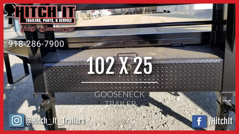 2019 Tiger 102 x 25 Gooseneck Trailer Equipment Trailer