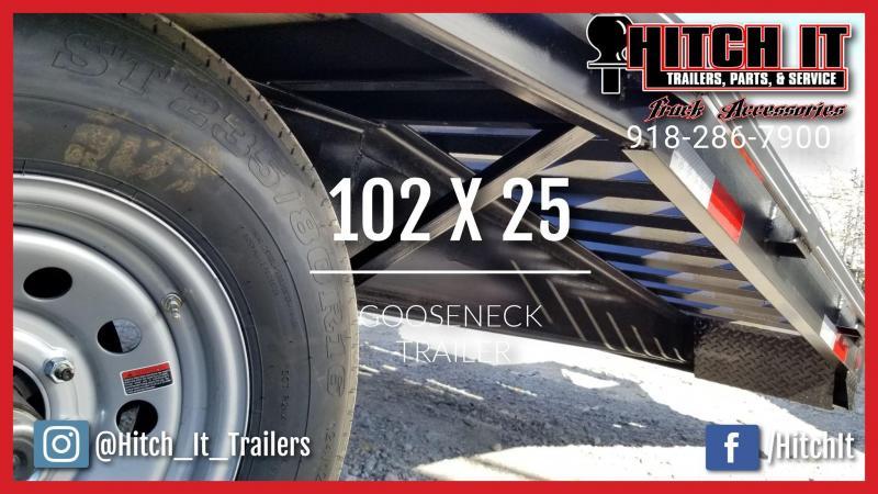 2019 Tiger 102 x 25 Gooseneck Trailer Equipment Trailer