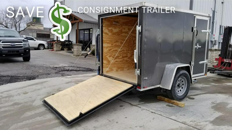 USED**CONSIGNMENT**2018 Lark 5 X 8 + V-NOSE Enclosed Cargo Trailer