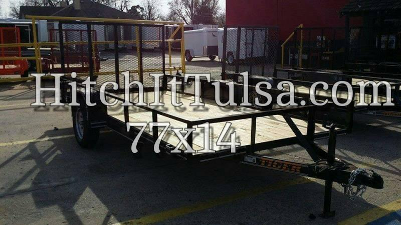 77 X 14 Charcoal Utility Trailer w/ Ramp Gate
