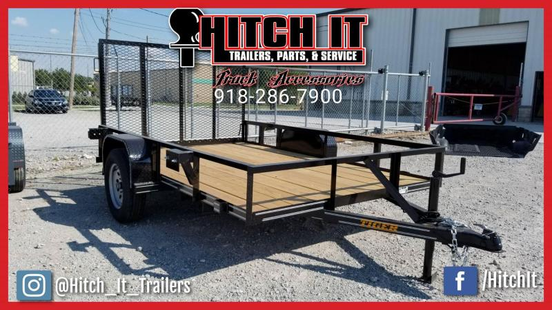 2018 77 X 10 Charcoal Utility Trailer w/ Ramp Gate