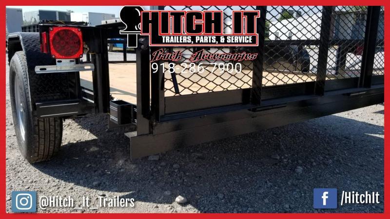 2018 77 X 10 Charcoal Utility Trailer w/ Ramp Gate