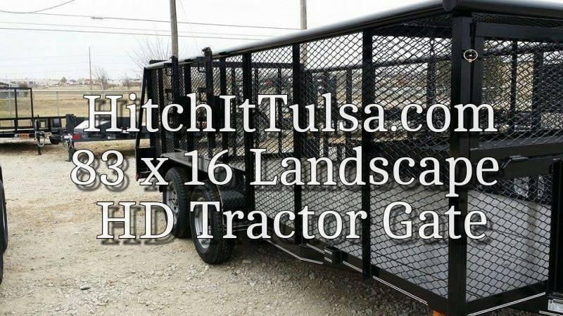 2018 Tiger 83 x 16 Landscape Trailer w/ HD TRACTOR Gate
