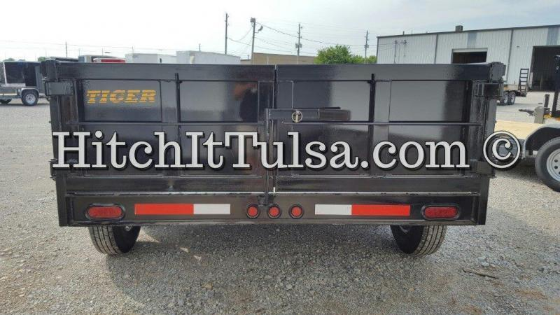 83 x 14 DUMP TRAILER bumper pull slide out ramps 7000 lb axles