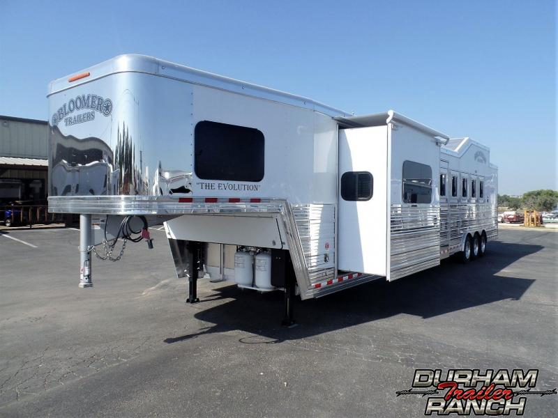 "2019 Bloomer 5H PC Load w/ 16'2"" SW & 6' Hyd. Slide Horse Trailer"