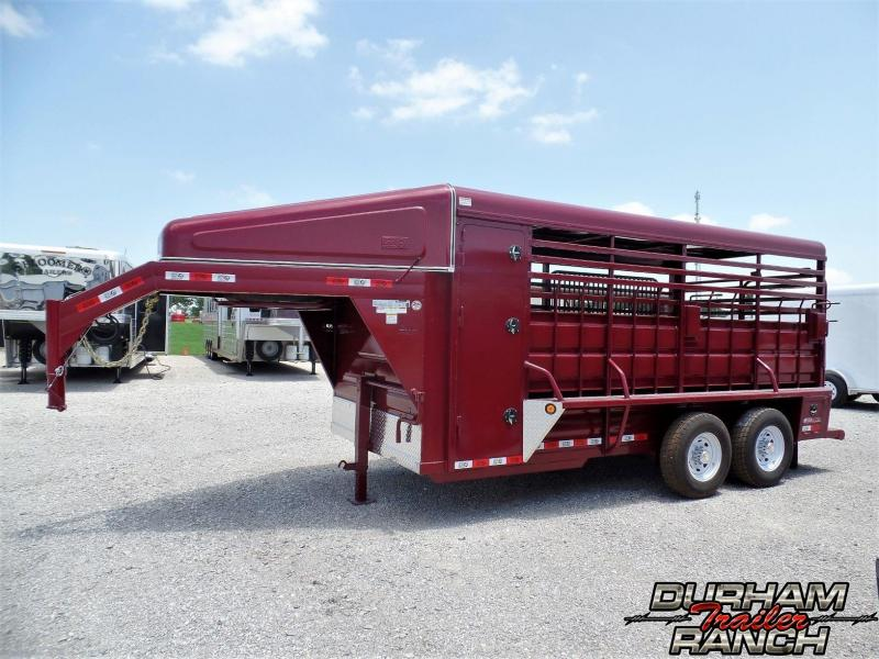 2019 GR 16 ft GN w/ Nose Livestock Trailer