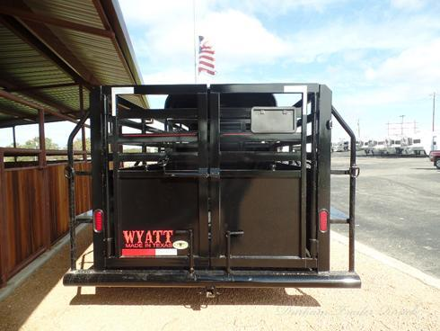 2019 Wyatt 20ft Stock 1/2 Top with Tack Box Livestock Trailer