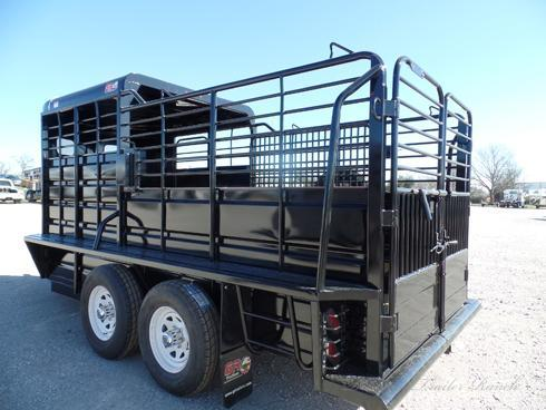 2019 GR 16ft Black Bumper Pull Stock Trailer
