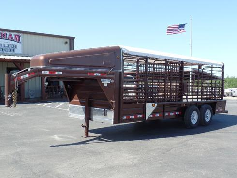 2018 GR Trailers 20' Gooseneck Stock Trailer