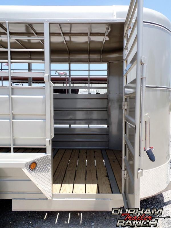2019 GR 16 ft BP w/ Full Metal Roof Livestock Trailer