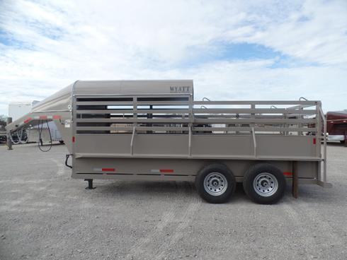 2019 Wyatt 16ft Half Top Stock Trailer