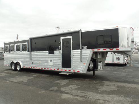 "2011 Hart 4H 12'8"" SW Horse Trailer"