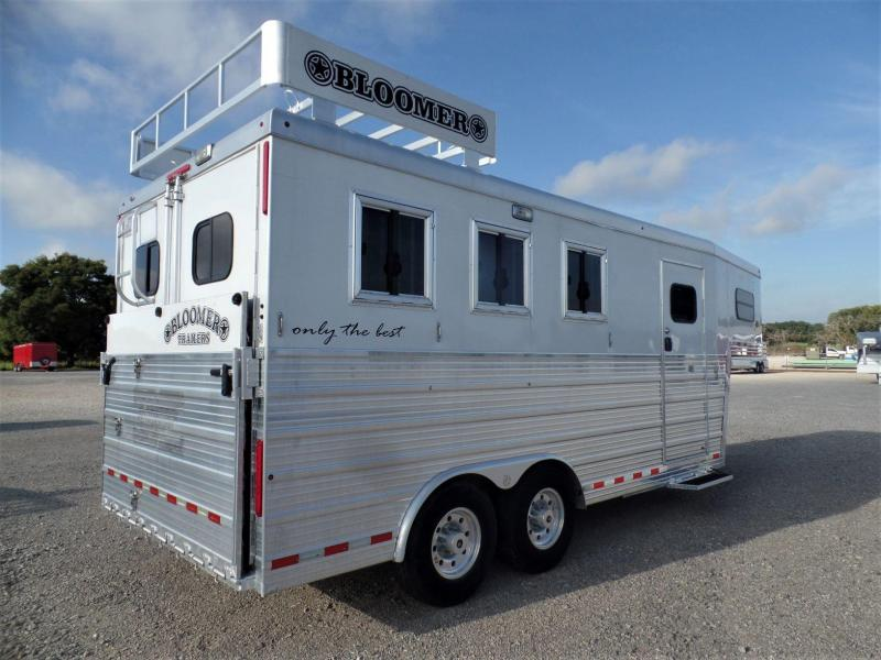 2013 Bloomer 3H w/ Full Front Tack Horse Trailer