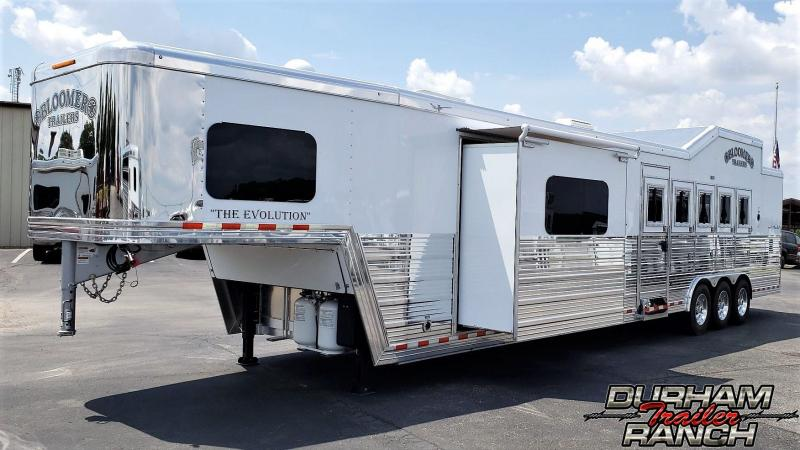 "2020 Bloomer 5H PC Load w/ 15'11"" Short Wall LQ & 6' Slide Horse Trailer"