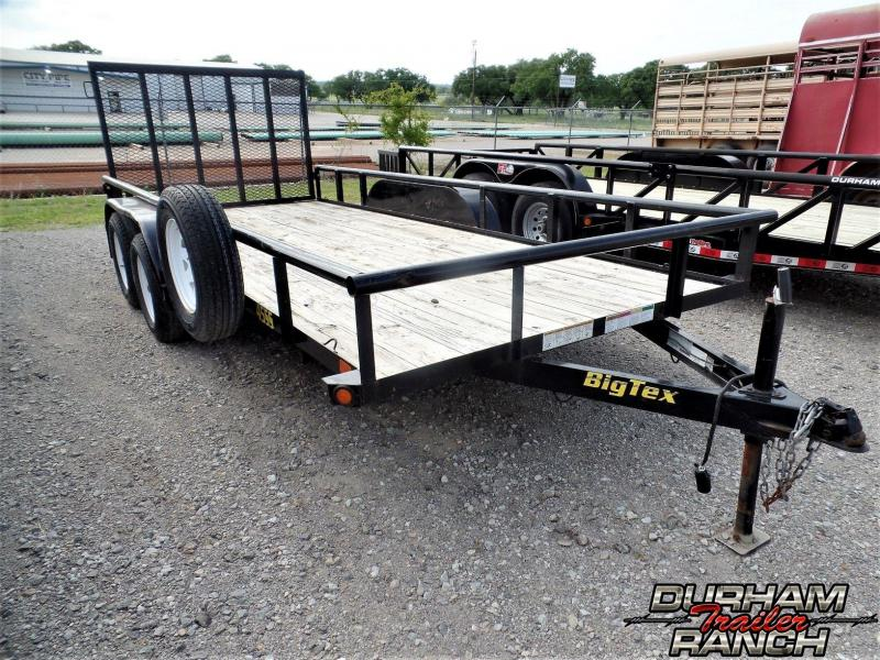 2015 Big Tex 16 ft BP Flatbed Utility Trailer