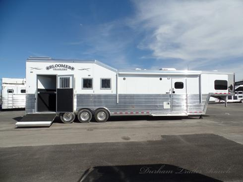2019 Bloomer 4 Horse PC Load with 13ft Short Wall Horse Trailer