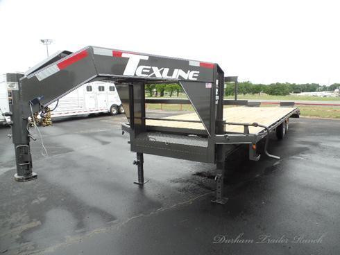 2018 TexLine 24'+5' Flat Bed Equipment Trailer