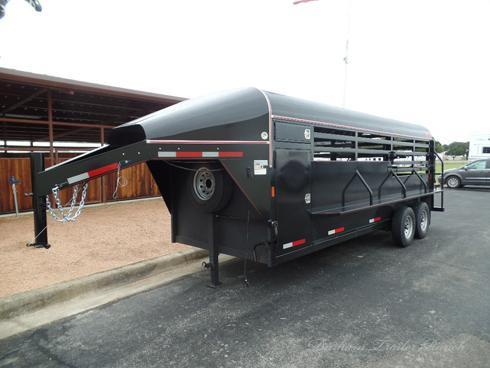 2019 Wyatt 20 ft Stock Trailer with Tack Box
