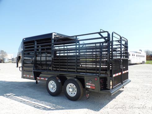 2019 GR 16ft Half Top Gooseneck Stock Trailer Livestock Trailer