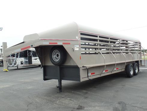 2019 Wyatt 24 ft Gooseneck Stock Trailer