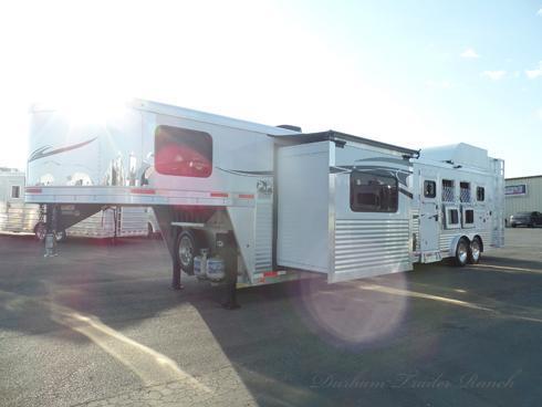 2015 Lakota 4 Horse 15ft 10in SW 7ft Slide Horse Trailer