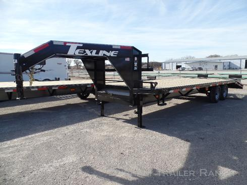 2018 TexLine 25' (20'+5') Deckover Equipment Trailer