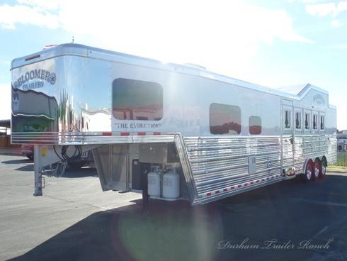 "2019 Bloomer 5H PC Load 12 8"" sw Full Rear Tack Horse Trailer"
