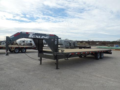 2019 TexLine 24 +5ft Dove Tail Gooseneck Deck Over Trailer