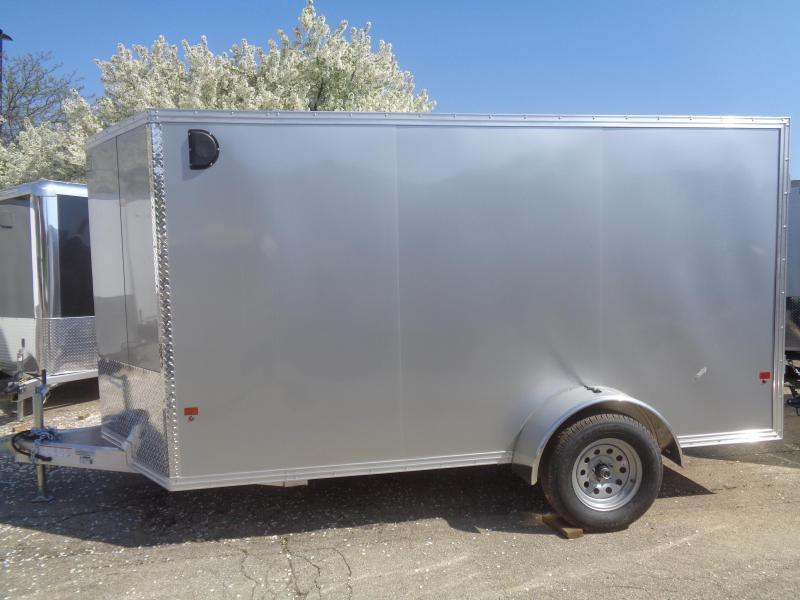 2019 Mission EZ Hauler 6x12 Single Axle Cargo Trailer With Ramp Door Enclosed Cargo Trailer