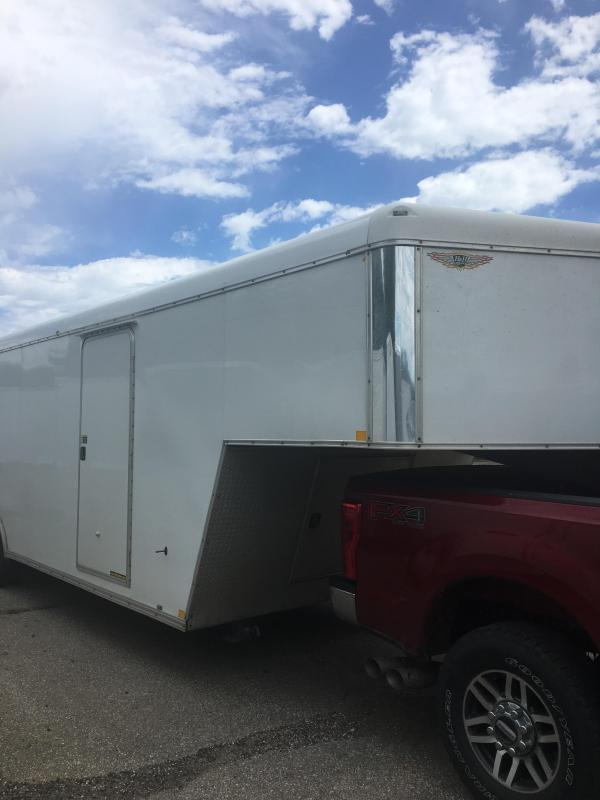 2014 H and H Trailer Gooseneck Enclosed Cargo Trailer with Double Doors