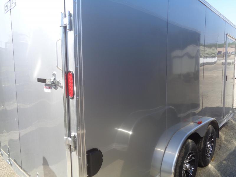 2018 Mission EZ Hauler 7.5x16 UTV Cargo Trailer with Ramp Door Enclosed Cargo Trailer