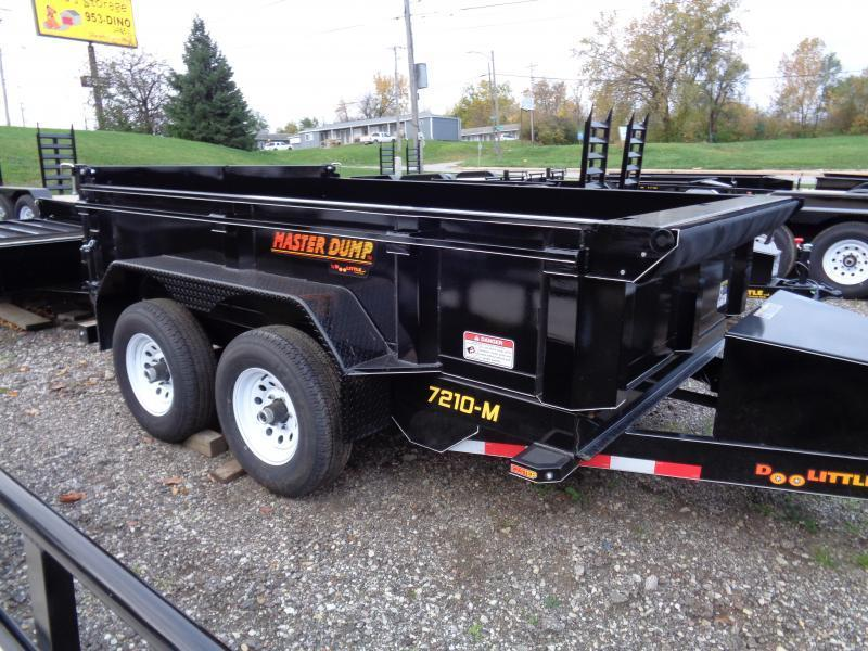 2018 Doolittle Trailer Mfg 72x10 Master Dump 10000lb GVWR Dump Trailer