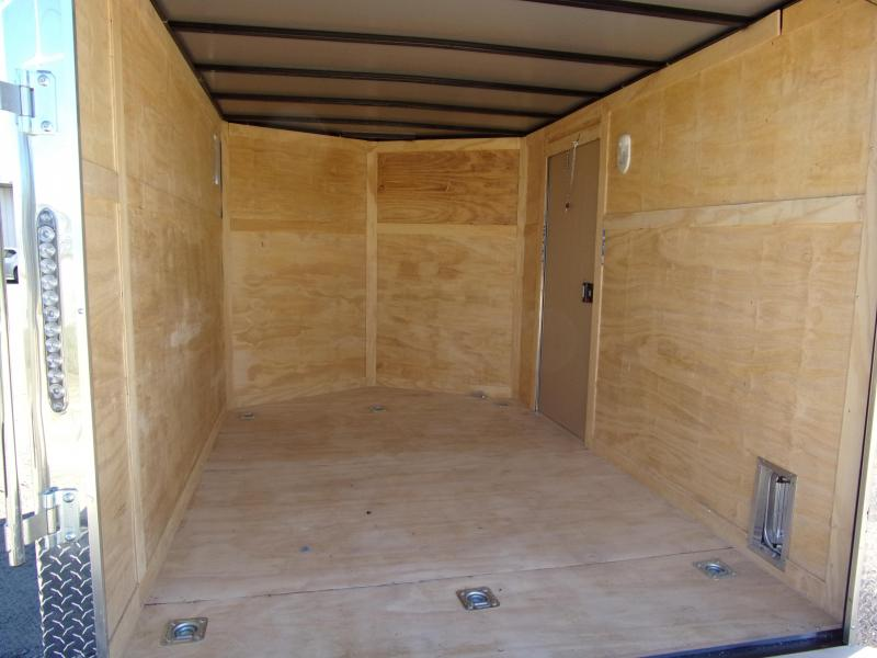 2019 Quality Cargo 7x10 MCP ramp door  White Enclosed Cargo Trailer