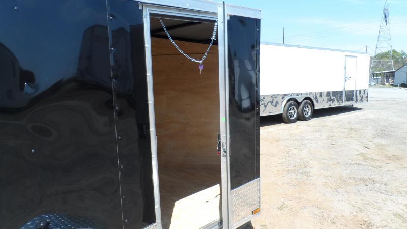 2019 Quality Cargo 5x8 Quest ramp door Black Enclosed Cargo Trailer