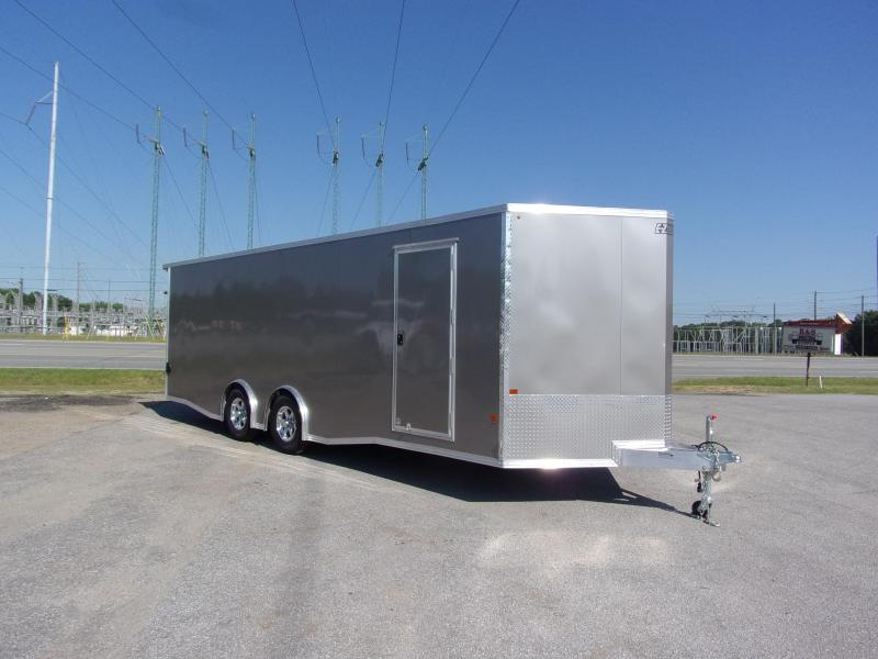 2019 Mission 8.5x24 Pewter spread axle ramp door Elite Ecsape door Enclosed Cargo Trailer in Ashburn, VA
