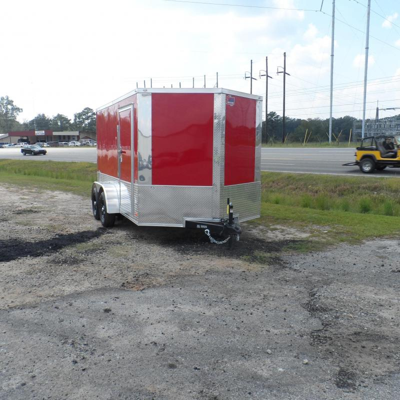 2019 Covered Wagon Trailers 7x12 MCP Red & ATP ramp door Enclosed Cargo Trailer