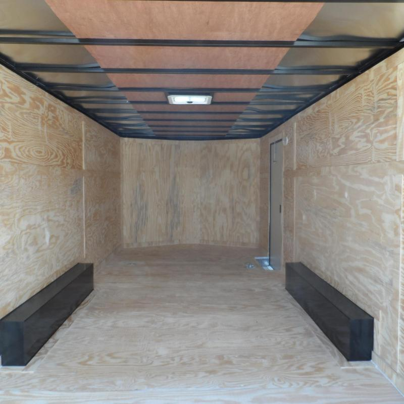 2018 Covered Wagon Trailers 8.5x20 Bk Black out ramp door Enclosed Cargo
